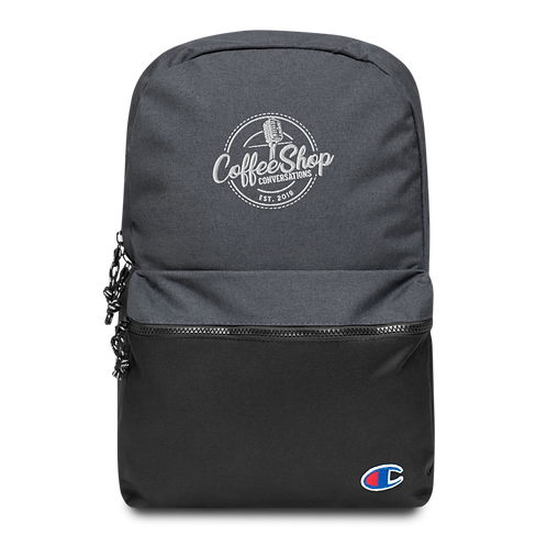 CoffeeShop Embroidered Backpack