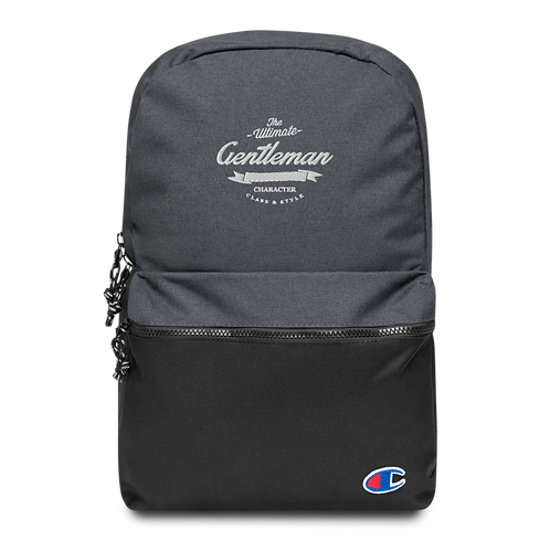 Official Gent Embroidered Backpack