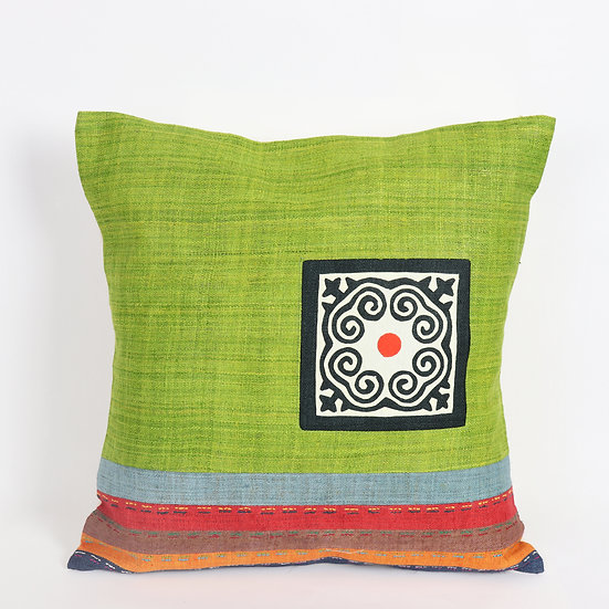 Hemp Cushion Cover - Bright Green