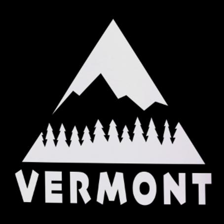 Vermont Life Sticker - White Vinyl