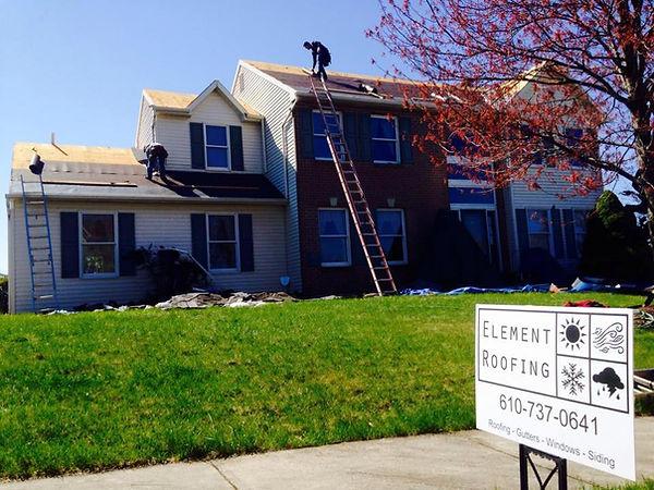 Element Roofing crew begins new GAF roof installation