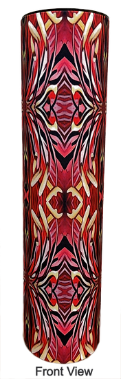 Orchid Tree Red mood lamp design front view