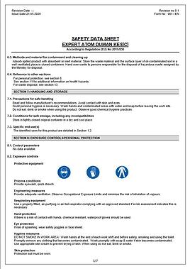 EXPERT ATOM DUMAN KESİCİ_SDS_EN pdf(2).p