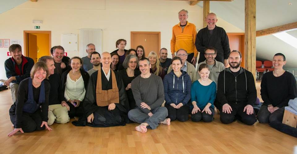 Ben with Zazen meditation group