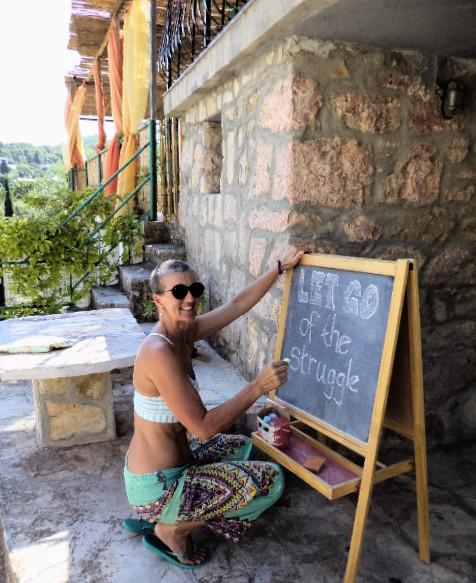 Yogini Goddess, Russelle Beardon, offers pure wisdom at Suncokret Body & Soul Retreat, Croatia, 2015