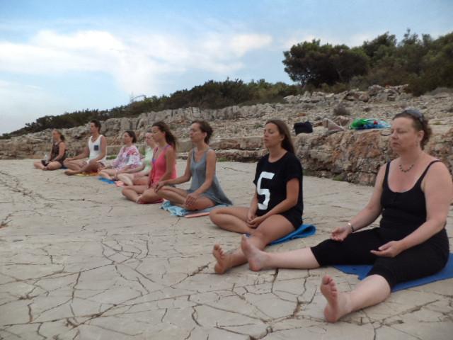 Meditation at the Sea with Russelle Beardon, Suncokret Body & Soul Retreat, Hvar Island, Croatia, 2015