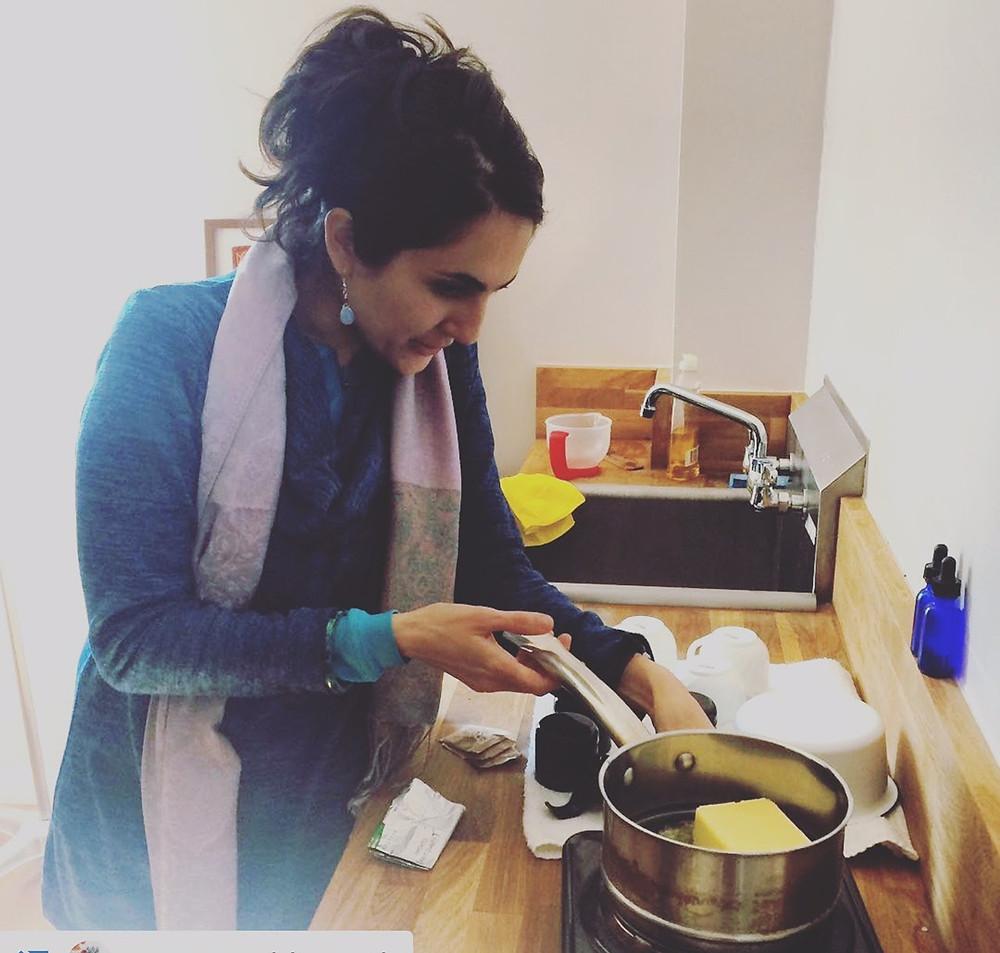 Bahareh Hosseini making Ghee