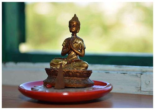 Buddha statue room detail at Suncokret Body & Soul Retreat