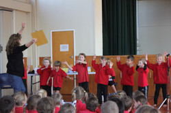 Children Performing At Assembly