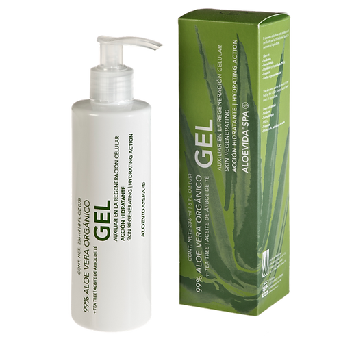 Gel auxiliar en la regeneración celular 99% aloe