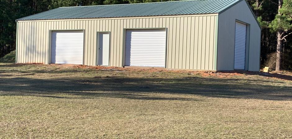 Fully enclosed pole barn