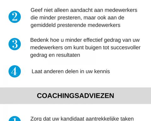 5 coachingsadviezen voor de ontwikkeling van medewerkers