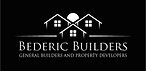 Bederic Builders Logo White with Black B