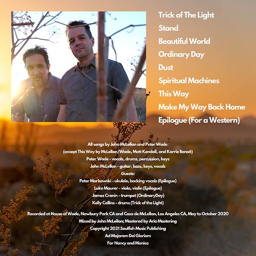 SOULFISH - Dust Album Cover BACK - High