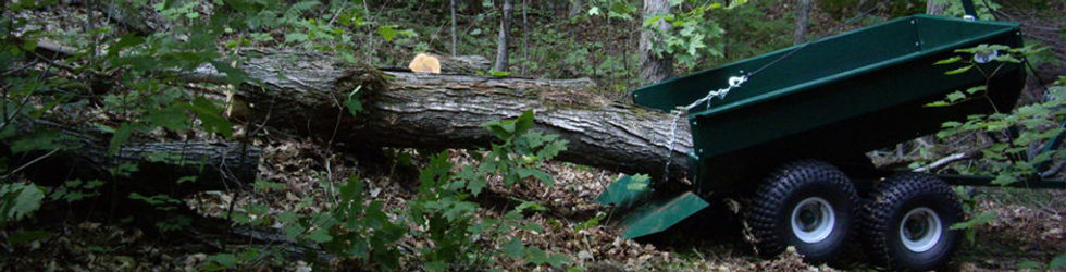 MUTS ATV trailer in the woods, MUTS ATV trailer hobby logging!