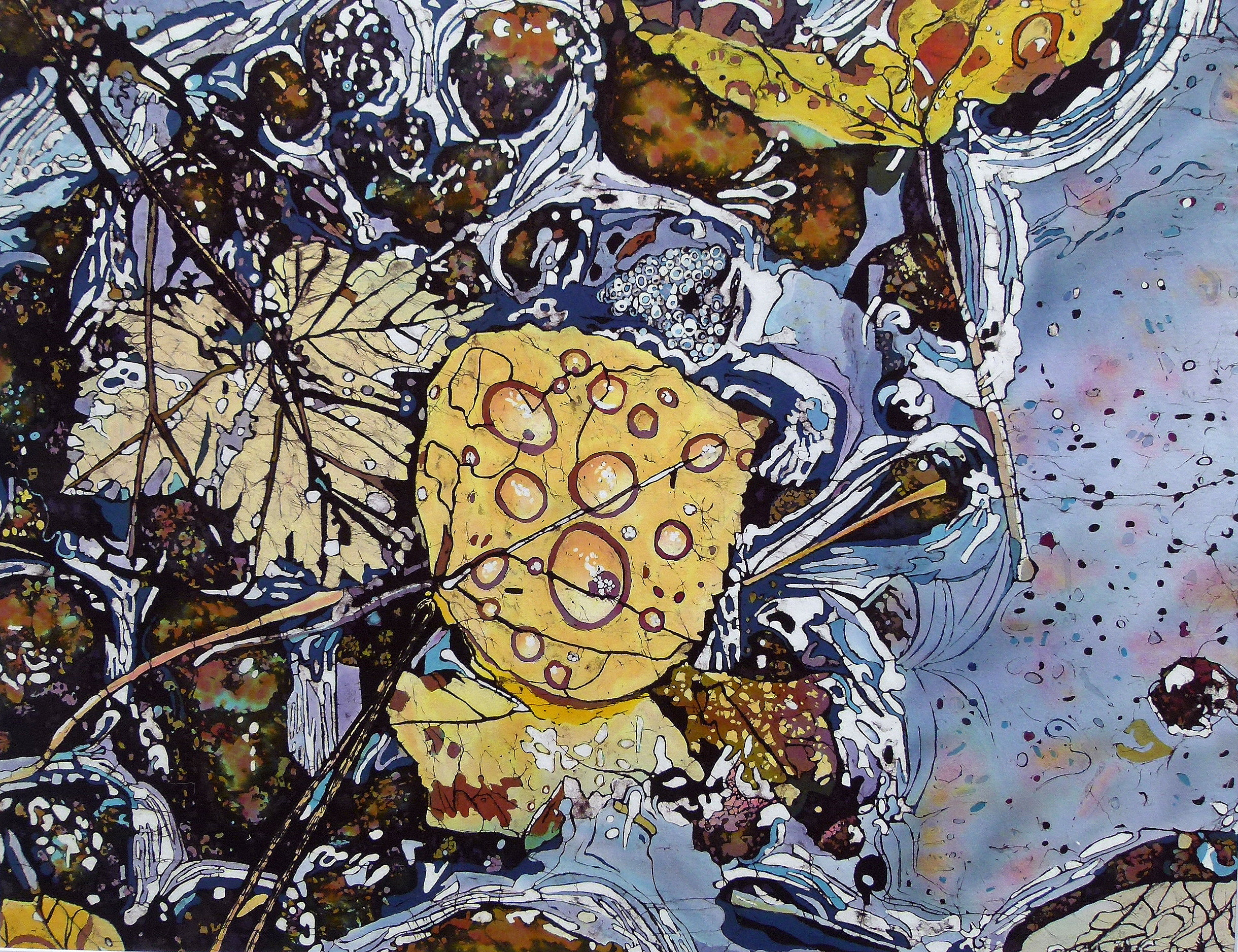 Fall at Baker Creek- Batik by Beth