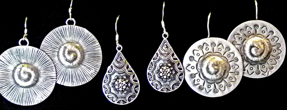 Sterling Silver Earrings- India