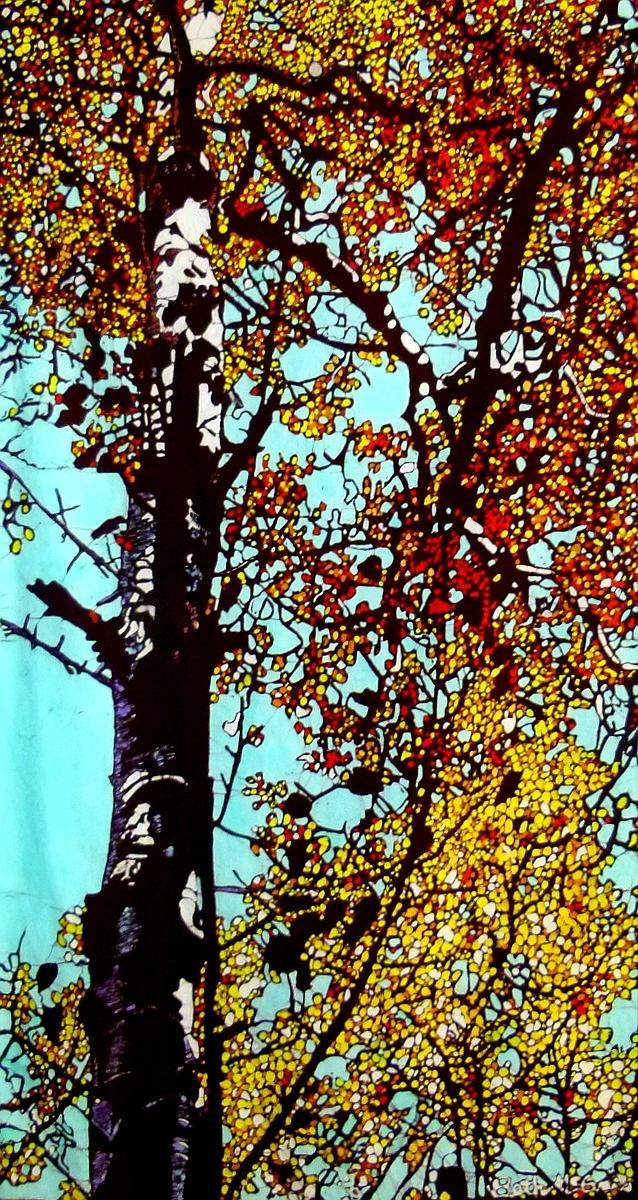 Fall Aspen- Batik by Beth