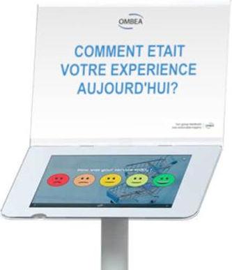 Borne de satisfaction tablette sur pied OMBEA ExpressTab