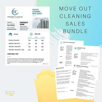 Move-out Cleaning Sales & Marketing Bundle