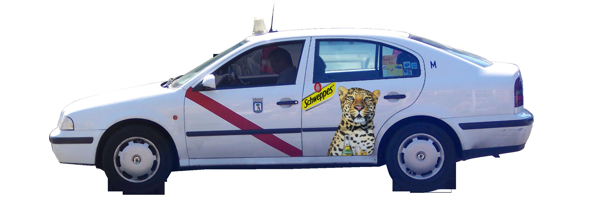 publicidad taxi Madrid Schweppes