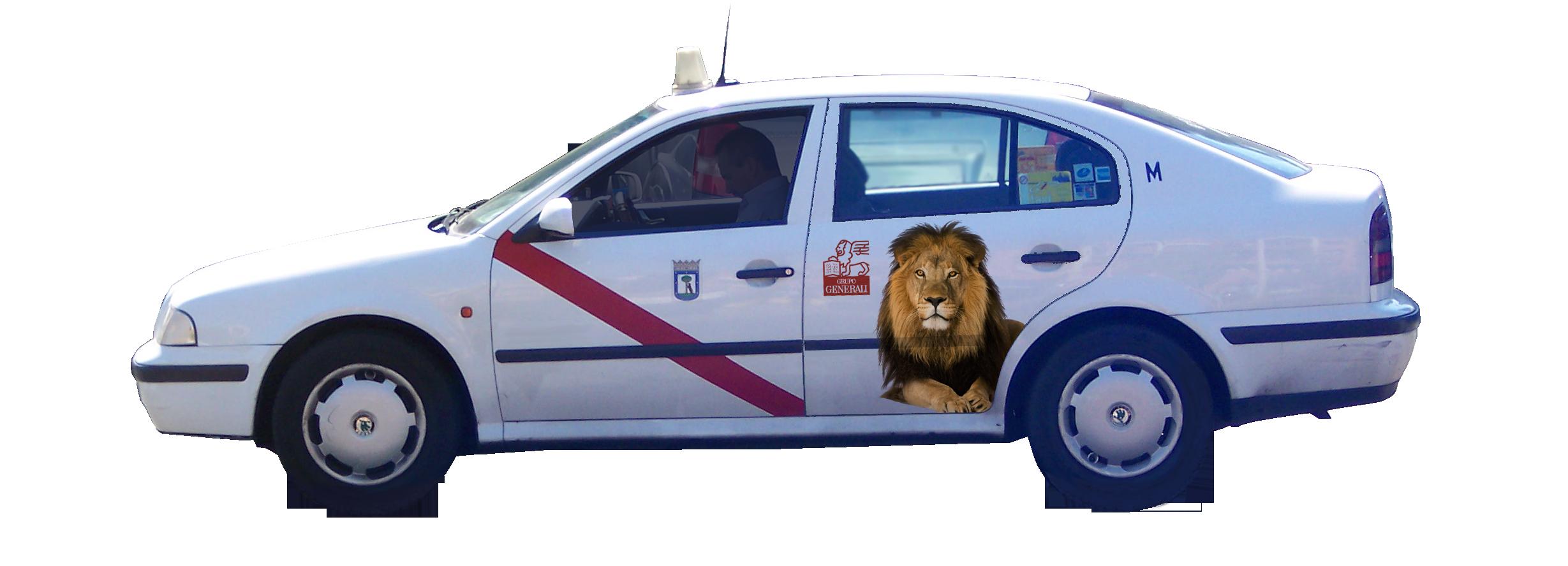 publicidad taxi Madrid GENERALI