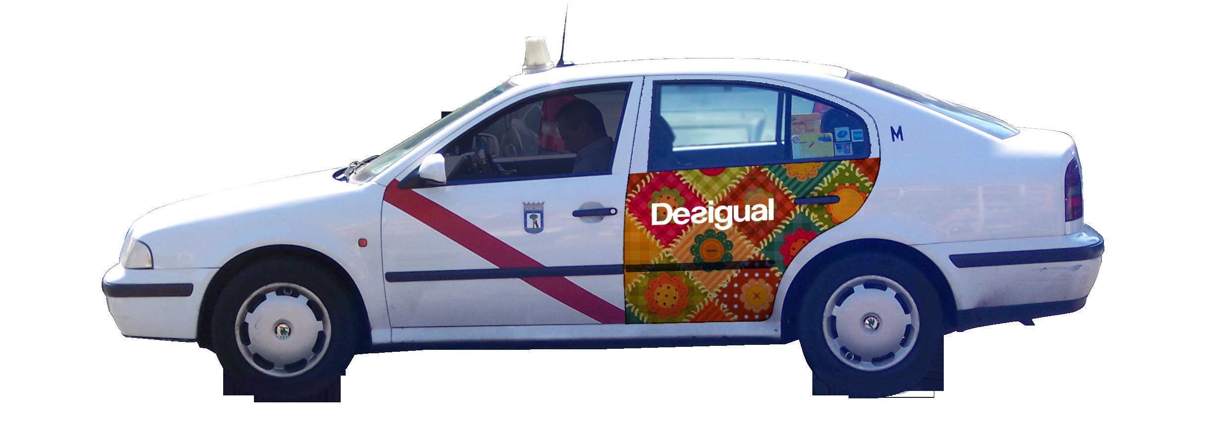 publicidad taxi Madrid Desigual
