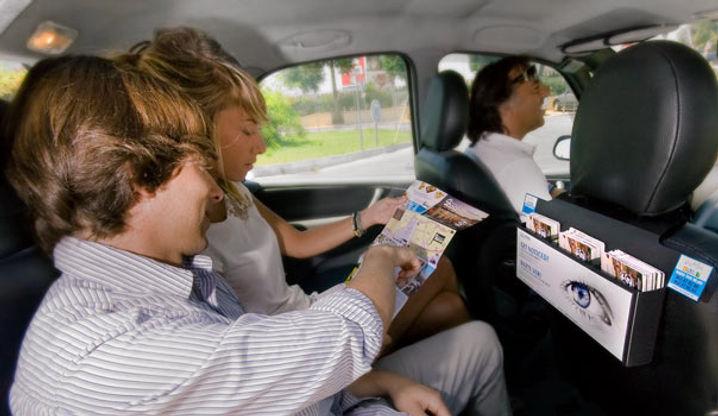 Publicidad interior taxis Madrid