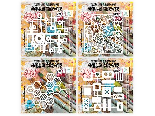 Autour de Mwa NEW Stencils -set of 4-