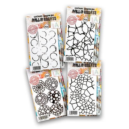 A7 stamp sets #308 #363 #365 #366