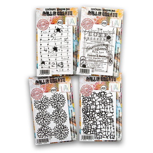 A7 stamp sets #309 #311 #318 #353