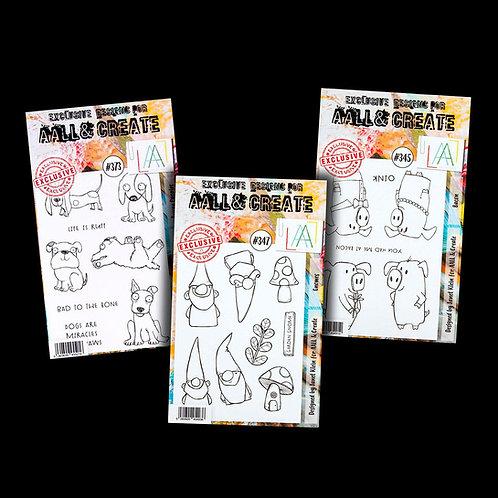 3x A6 stamp sets