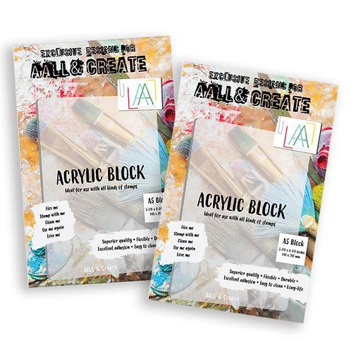 A5 Acrylic Block x2