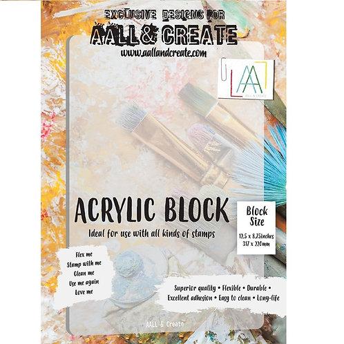 A4 Acrylic Block