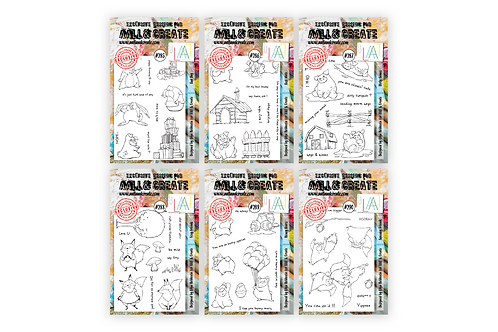 Olga's 6 Cuties A6 Stamp sets