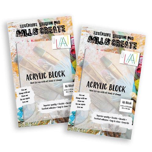 A6 Acrylic Block x2