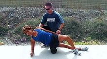 Personal training on a foam roller