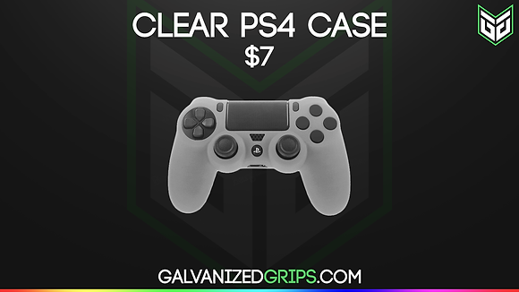 CLEAR GALVANIZED GRIPS PS4 CONTROLLER CASE