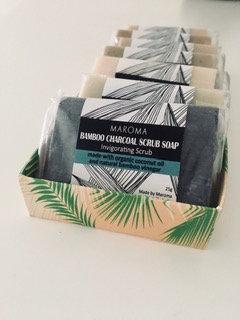 Mini savon exfoliant - Charbon de bois de Bambou - 25gr