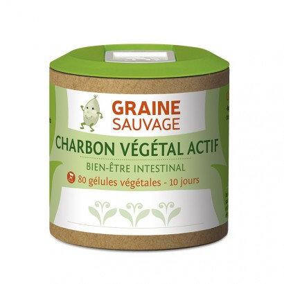 Charbon végétal actif - 80 gélules