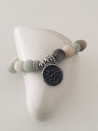 Bracelet en Amazonite - Lotus