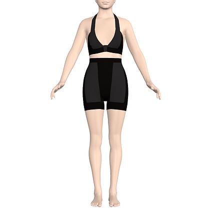 Halter Bra/ Longline Panty
