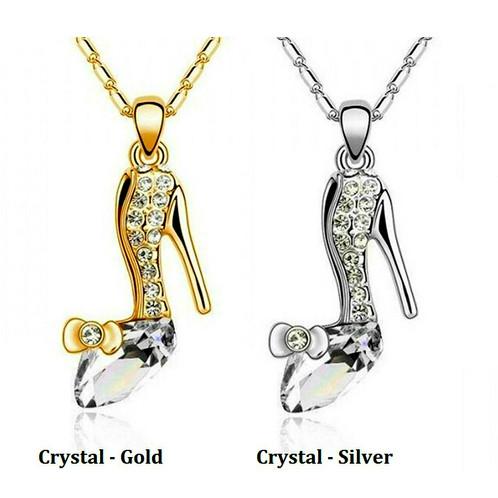 Cinderellas glass slipper crystal necklace shopvandelay kids cinderellas glass slipper crystal necklace aloadofball Images