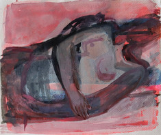 Resting Figure in Pink