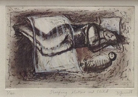 Sleeping Mother and Child, 2015