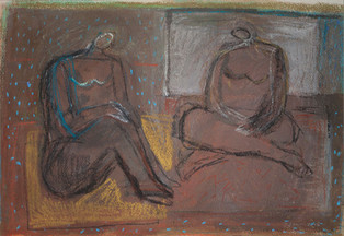Two Figures Resting, 2016