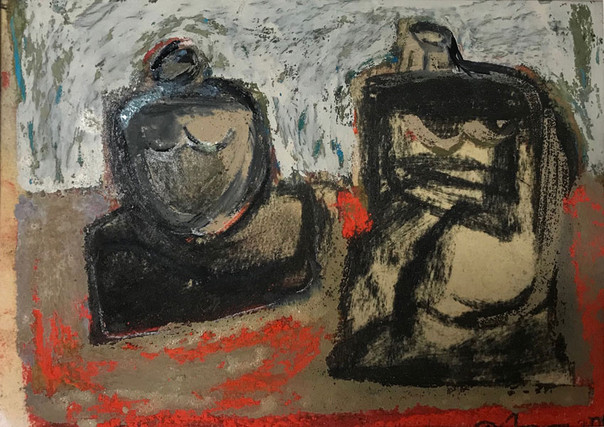 Composition with Two Figures, 2018