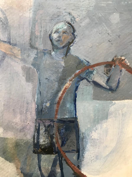 Boy with a Hoop (detail )