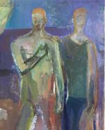 After The Apple was Eaten , oil on cavas , 60 cm x 60cm