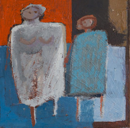 Mother and Child in Red and Blue, 2016
